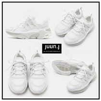 JUUN.J Rubber Sole Casual Style Street Style Plain Leather