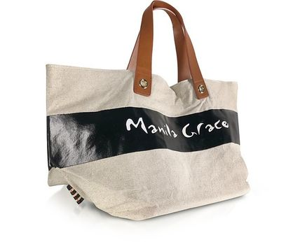 Logo Casual Style Totes