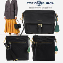 Tory Burch PERRY Casual Style Unisex Nylon Vanity Bags A4 2WAY Plain