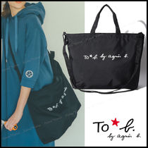 Agnes b Star Casual Style A4 2WAY Crossbody Logo Totes