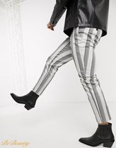 ASOS Tapered Pants Printed Pants Stripes Street Style Cotton