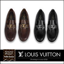 Louis Vuitton MONOGRAM Monogram Loafers Leather U Tips Logo Loafers & Slip-ons