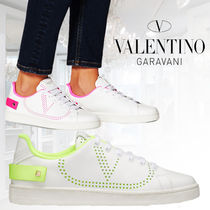 VALENTINO BACKNET Casual Style Street Style Logo Low-Top Sneakers