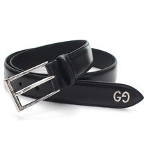 GUCCI Leather Belt With Gg Detail
