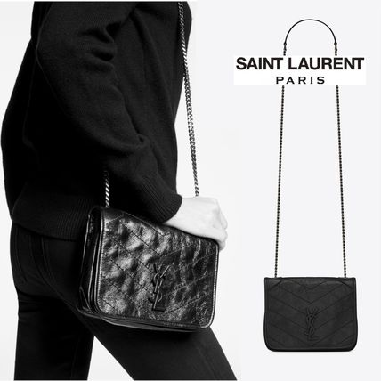 Saint Laurent Monogram Chain Chain Wallet Logo Folding Wallets