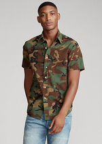 POLO RALPH LAUREN Button-down Camouflage Cotton Short Sleeves Shirts