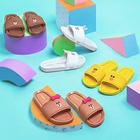 Unisex Collaboration Oversized Kids Girl Sandals