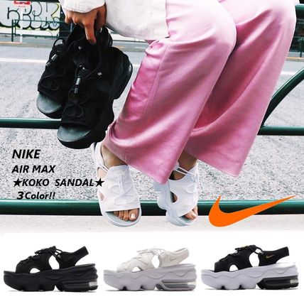Platform Casual Style Street Style Sport Sandals Logo