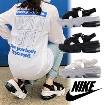 Nike AIR MAX Platform Casual Style Street Style Sport Sandals Logo