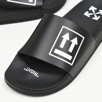 Off-White Street Style Shower Shoes PVC Clothing Logo Shower Sandals