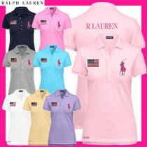 Ralph Lauren Casual Style Street Style Cotton Short Sleeves Logo Polos