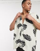 ASOS Tropical Patterns Street Style Short Sleeves Oversized