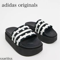 adidas Dots Platform Casual Style Street Style Plain Slippers