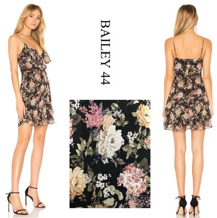 Bailey 44 Crew Neck Short Flower Patterns Casual Style Sleeveless