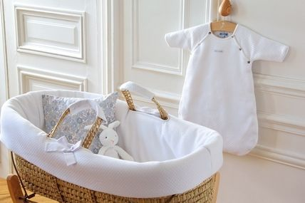 JACADI Unisex Baby basket with cover perfect for newborn photo
