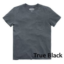 Outer known Crew Neck Plain Cotton Short Sleeves Surf Style