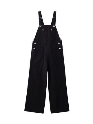 Dungarees Casual Style Sleeveless Street Style Plain Cotton