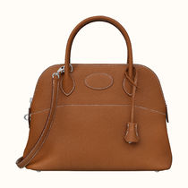 HERMES Bolide 2WAY Plain Leather Crossbody Totes