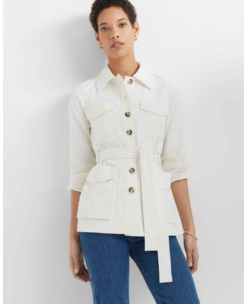 Casual Style Plain Medium Formal Style  Trench Coats