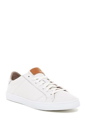Lace-up Casual Style Street Style Plain Leather Logo