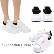 alexander mcqueen Platform Round Toe Lace-up Casual Style Unisex Suede