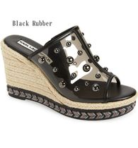 Karl Lagerfeld Open Toe Casual Style Platform & Wedge Sandals