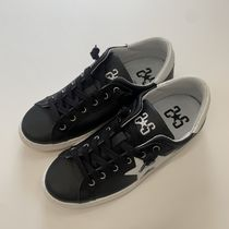 2STAR Star Casual Style Street Style Leather Low-Top Sneakers