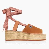 See by Chloe Platform Lace-up Casual Style Bi-color Leather Elegant Style