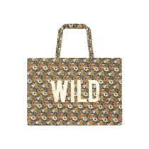 BONTON Flower Patterns Casual Style Logo Totes