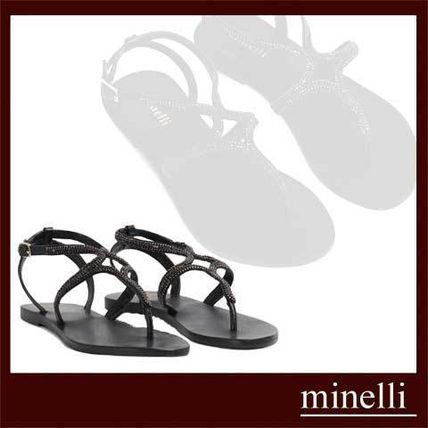 Casual Style Plain Leather Shower Shoes Slippers