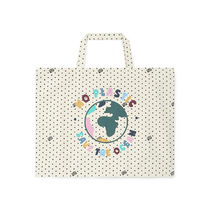 BONTON Flower Patterns Star Casual Style Collaboration Logo Totes