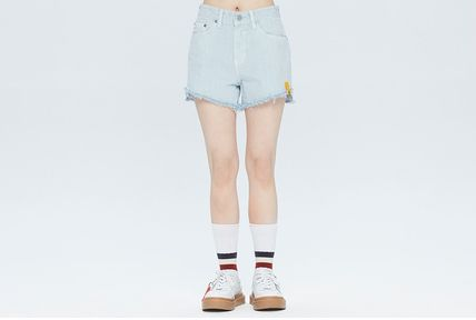 ROMANTIC CROWN Logo Short Casual Style Street Style Shorts