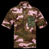 MONCLER Camouflage Unisex Street Style Cotton Short Sleeves Shirts