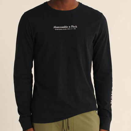 Crew Neck Long Sleeves Logos on the Sleeves