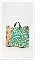 CLARE VIVIER Casual Style 2WAY Other Animal Patterns Leather Totes