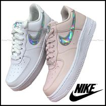 Nike AIR FORCE 1 Casual Style Street Style Plain Leather Logo