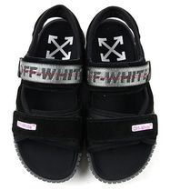 Off-White Suede Blended Fabrics Leather Sport Sandals Logo