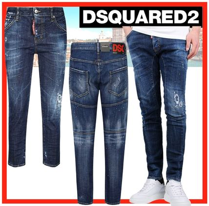 D SQUARED2 More Jeans Unisex Street Style Cotton Jeans