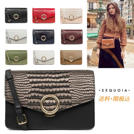 SEQUOIA PARIS Shoulder Bags Casual Style 2WAY Other Animal Patterns Leather Party Style