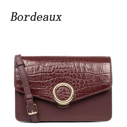 SEQUOIA PARIS Shoulder Bags Casual Style 2WAY Other Animal Patterns Leather Party Style 8