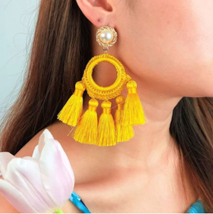 Casual Style Tassel Party Style Co-ord Earrings