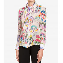 Moschino Casual Style Silk Long Sleeves Office Style Elegant Style