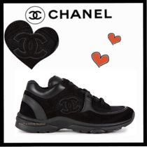 CHANEL SPORTS Unisex Suede Plain Sneakers