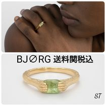 BJORG Casual Style Unisex Street Style Silver 18K Gold