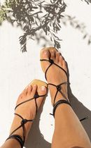 SABO SKIRT Open Toe Lace-up Casual Style Sandals Sandal