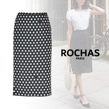 Dots Silk Cotton Skirts