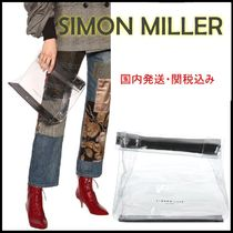 SIMON MILLER Casual Style Crystal Clear Bags PVC Clothing Office Style