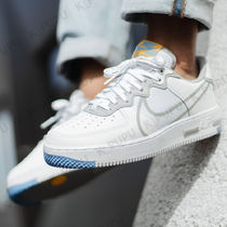 Nike AIR FORCE 1 Unisex Faux Fur Blended Fabrics Street Style Plain Leather