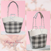 Roger Vivier Other Plaid Patterns Monogram Blended Fabrics 2WAY Chain