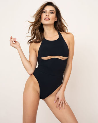 Plain Brazilian Turtleneck Swimwear